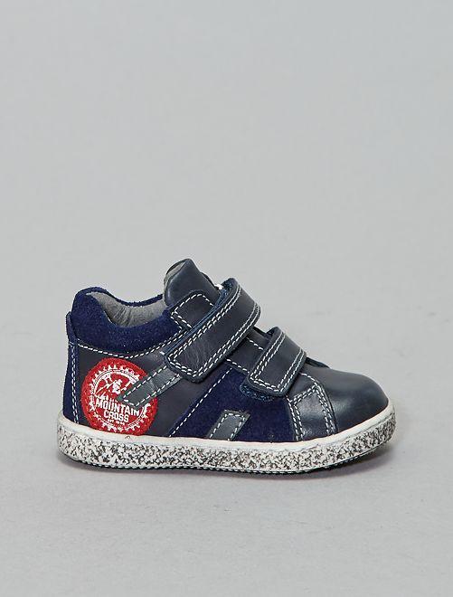 Boots en cuir                             bleu navy