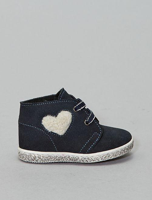Boots en cuir                             bleu navy Chaussures