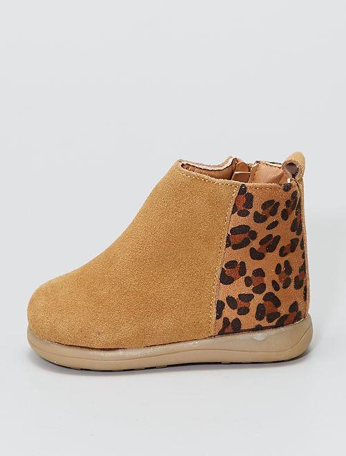 Boots en cuir                             camel