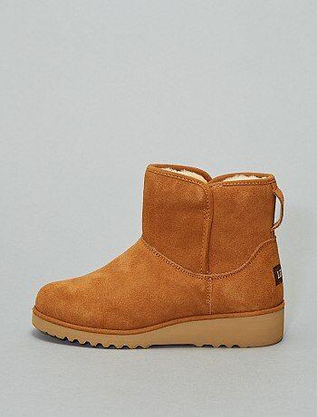 Boots en cuir fourrées