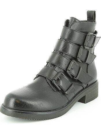 Boots en simili à brides - Kiabi
