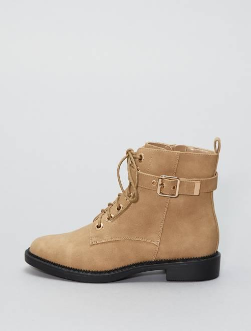 Boots en simili                                         BEIGE Femme