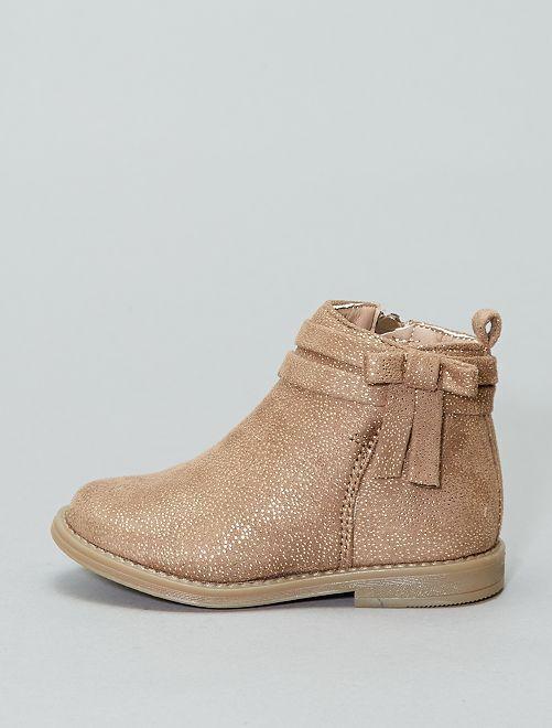 Boots en simili brillant                             marron Fille