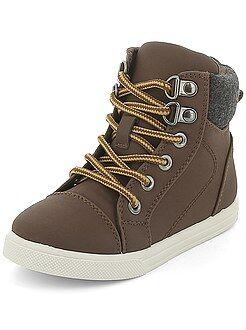 Chaussures garçon - Boots en simili - Kiabi