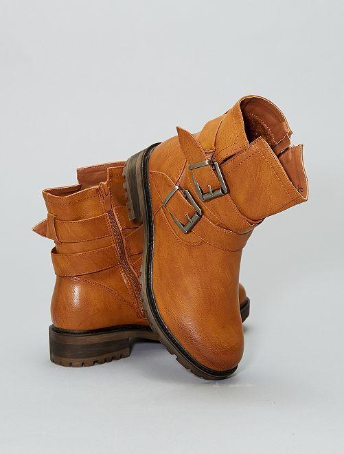 Boots en simili                                         camel