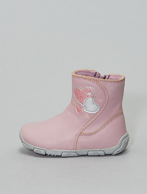 Boots en simili 'Geox'                             rose