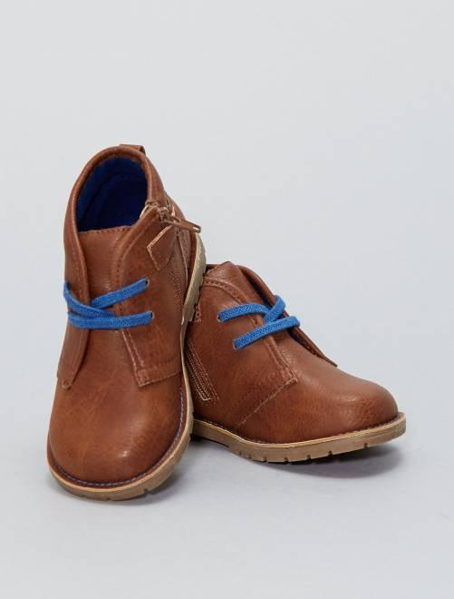 Boots en simili                             marron Bébé garçon