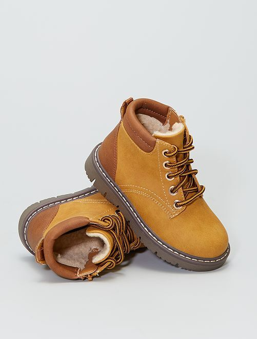 Boots en simili                             marron