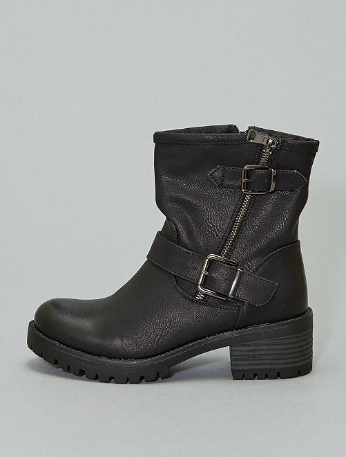 Boots en simili                             noir