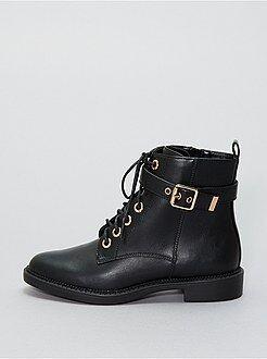 Boots, bottines - Boots en simili - Kiabi