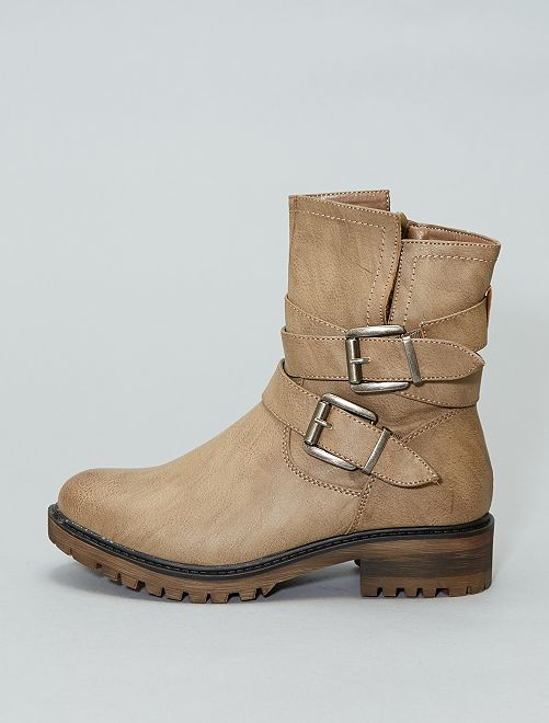 Boots en simili                                         taupe Chaussures
