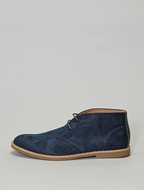 Boots en suédine                             bleu navy Grande taille homme