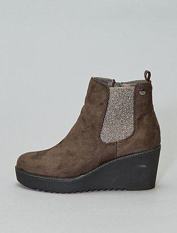 ad6b49c9e57831 Soldes boots femme, bottines plates ou à talons pour femme pas cher ...
