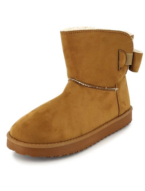 boots en su dine fourr es femme camel kiabi 20 00. Black Bedroom Furniture Sets. Home Design Ideas