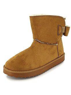 Boots en suédine fourrées