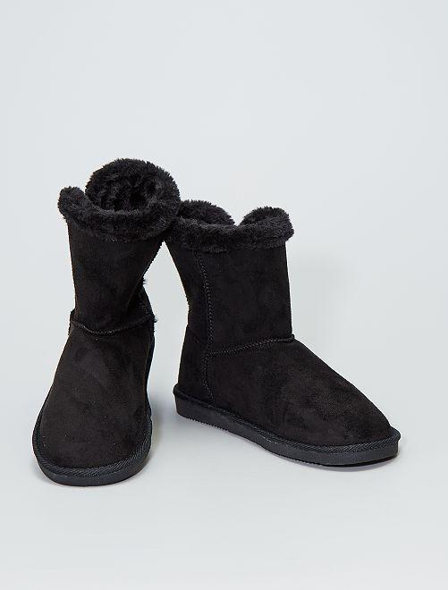 Boots en suédine fourrées                             noir