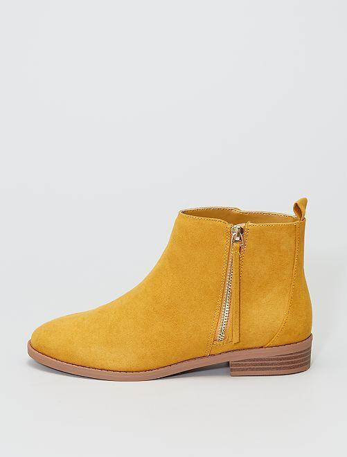 Boots en suédine                             jaune