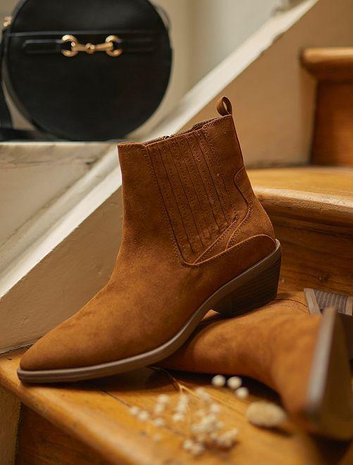 Boots en suédine                                         marron