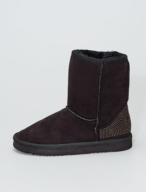 Boots en suédine                             noir