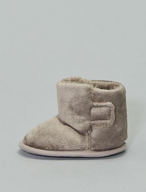 Boots en velours                     taupe