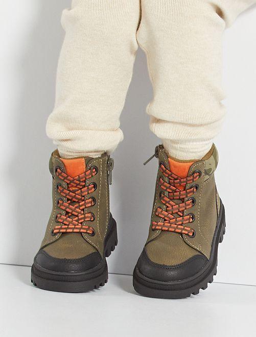 Boots esprit forêt                             KAKI