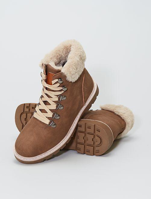 Boots esprit montagne                             brun