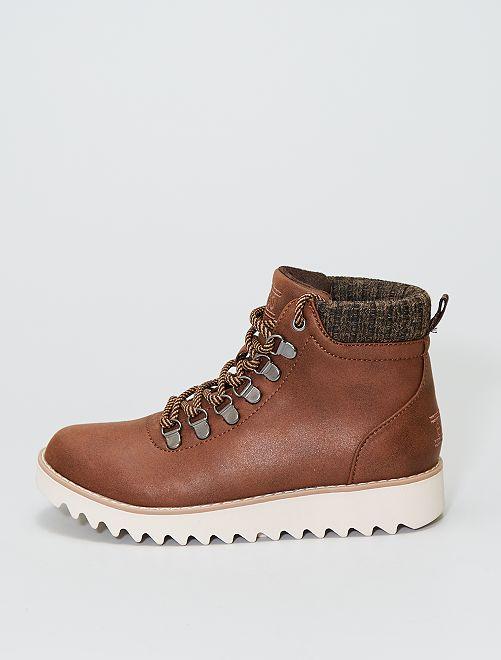 Boots esprit montagne                             marron