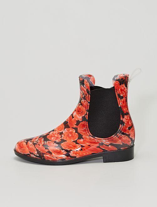 Boots façon 'Chelsea'                             rouge