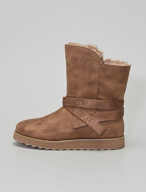 Boots fourrées                                         beige
