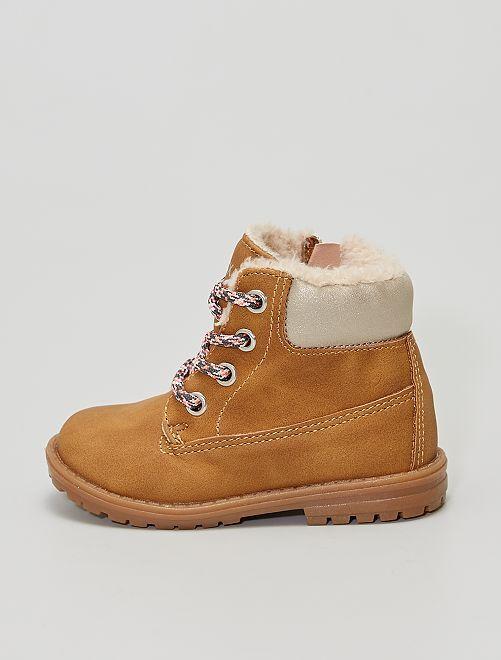 Boots fourrées                             marron