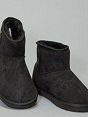 Soldes boots femme boots motardes, boots à talon, fourrées