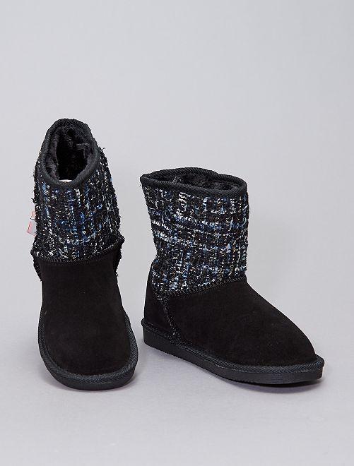 Boots fourrées                             noir
