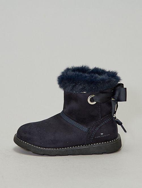 Boots fourrées 'Tom Tailor'                             bleu navy