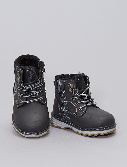 Boots fourrés                             gris foncé