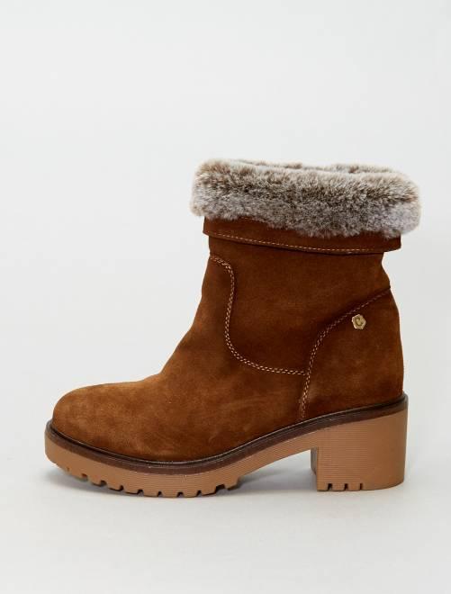 Boots haute semelle 'XTI'                             MARRON