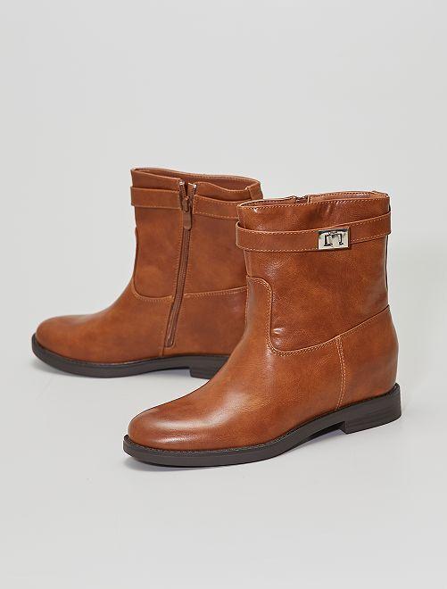 Boots hautes                                         camel