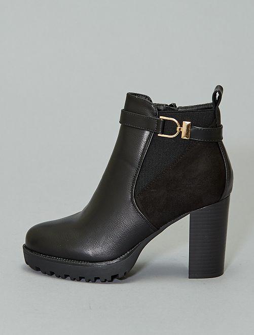 Boots hauts talons                             noir
