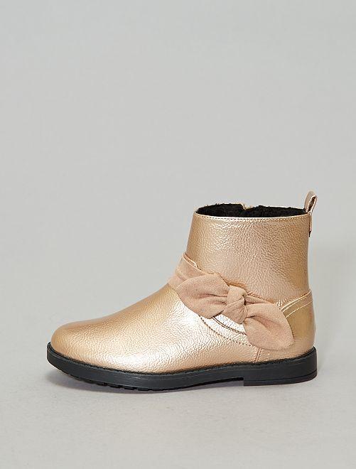 Boots irisées chaudes                                         rose gold Chaussures
