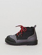 Boots montantes en textile