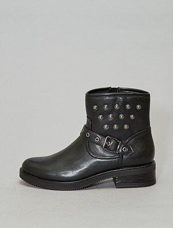 Boots motardes cloutés