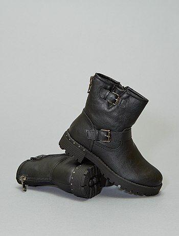 Boots motardes talons strass
