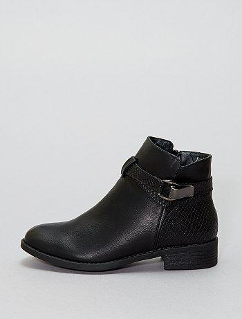 Boots simili effet `serpent`