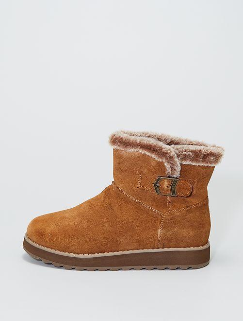 Boots 'Skechers' en cuir                                         beige