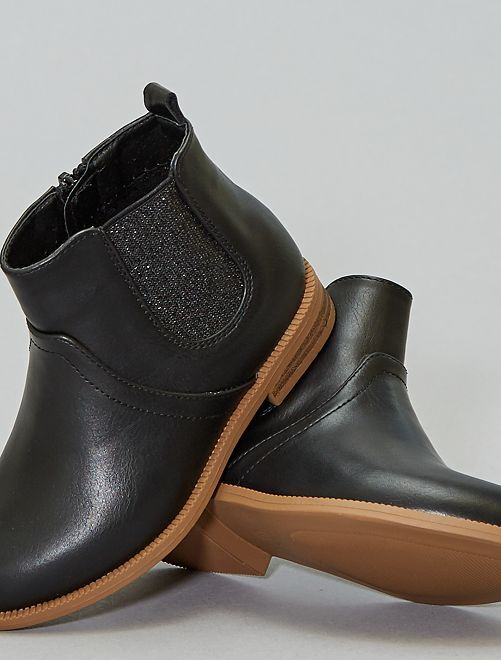 Boots soufflets brillants                                                                 noir