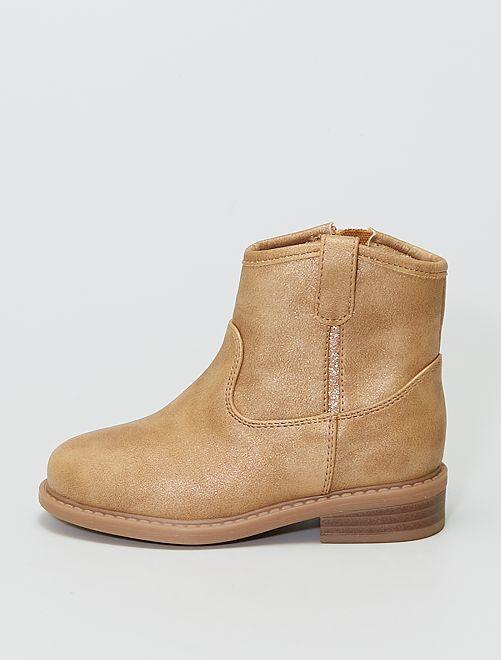 Boots style 'chelsea'                             doré