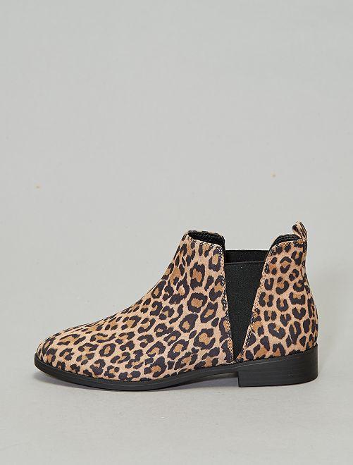 Boots style chelsea 'léopard'                             léopard Chaussures