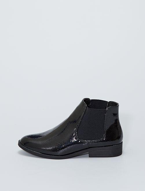 Boots style 'Chelsea' vernies                             noir