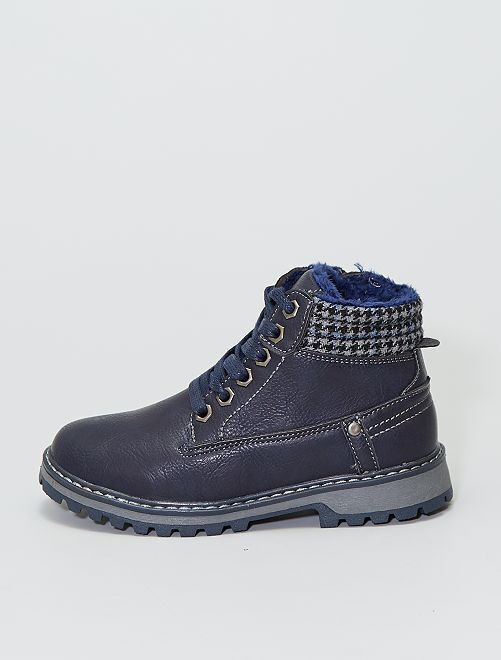 Boots style montagne                             bleu navy