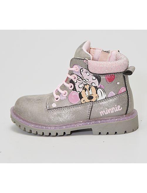 Boots style montagne 'Minnie'                             gris
