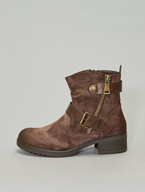 Boots style western                             brun Chaussures